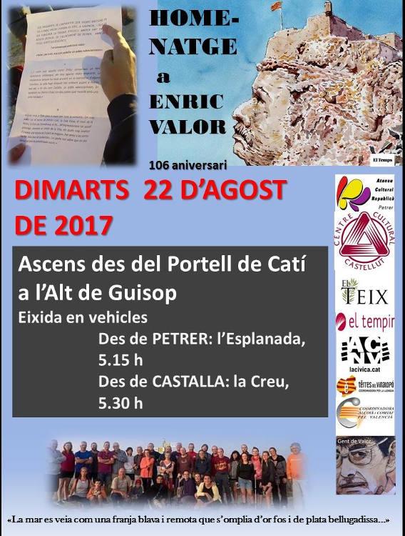 106 aniversari d'Enric Valor Alt de Guisop, dimarts 22 d'agost de 2017 13