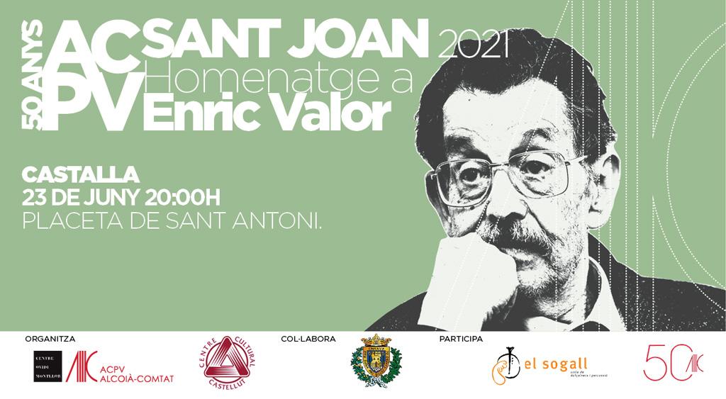Homenatge Enric Valor Sant Joan